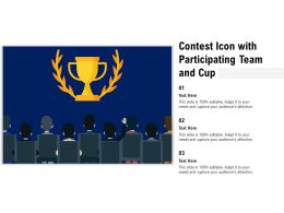 Contest Icon With Participating Team And Cup