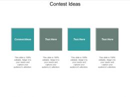 Contest Ideas Ppt Powerpoint Presentation File Tips Cpb
