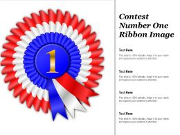 Contest Number One Ribbon Image