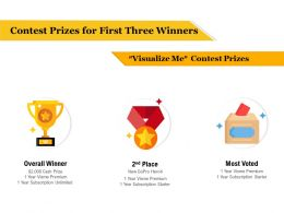 Contest Prizes For First Three Winners