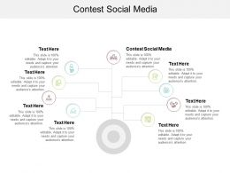 Contest Social Media Ppt Powerpoint Presentation Summary Design Templates Cpb