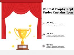 Contest Trophy Kept Under Curtains Icon