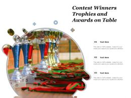 Contest Winners Trophies And Awards On Table