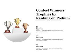 Contest Winners Trophies By Ranking On Podium