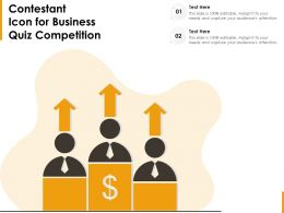 Contestant Icon For Business Quiz Competition