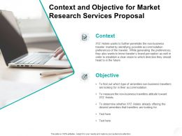 Context And Objective For Market Research Services Proposal Ppt Powerpoint Presentation Layouts