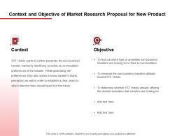 Context And Objective Of Market Research Proposal For New Product Ppt Powerpoint Presentation