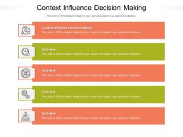 Context Influence Decision Making Ppt Powerpoint Presentation Layouts Vector Cpb