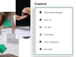 Context Rental Receipt Template A1274 Ppt Powerpoint Presentation Slides Rules