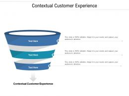 Contextual Customer Experience Ppt Powerpoint Presentation Pictures Shapes Cpb