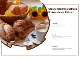 Continental Breakfast With Croissants And Coffee
