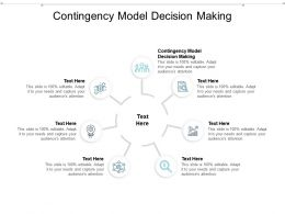 Contingency Model Decision Making Ppt Powerpoint Presentation Infographics Introduction Cpb