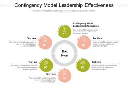 Contingency Model Leadership Effectiveness Ppt Powerpoint Presentation File Maker Cpb