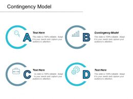 Contingency Model Ppt Powerpoint Presentation Gallery Format Cpb