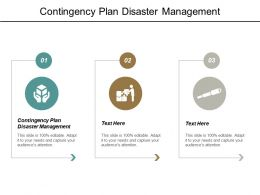 Contingency Plan Disaster Management Ppt Powerpoint Presentation Outline Graphic Images Cpb