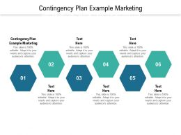 Contingency Plan Example Marketing Ppt Powerpoint Presentation Ideas Slideshow Cpb