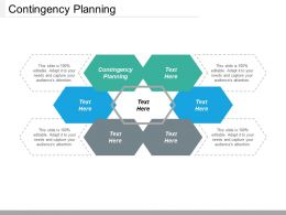Contingency Planning Ppt Powerpoint Presentation Gallery Graphics Template Cpb