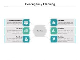 Contingency Planning Ppt Powerpoint Presentation Infographics Layout Ideas Cpb