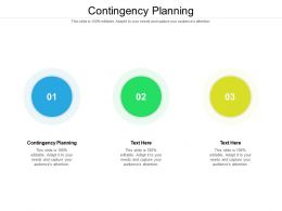 Contingency Planning Ppt Powerpoint Presentation Model Slideshow Cpb