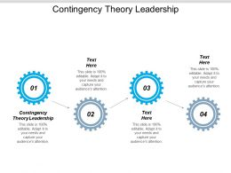 Contingency Theory Leadership Ppt Powerpoint Presentation Pictures Clipart Images Cpb