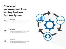Continual Improvement Icon For Key Business Process System