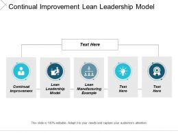 Continual Improvement Lean Leadership Model Lean Manufacturing Example Cpb