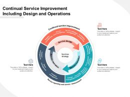 Continual Service Improvement Including Design And Operations