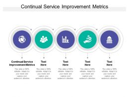 Continual Service Improvement Metrics Ppt Powerpoint Presentation Show Cpb
