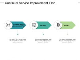 Continual Service Improvement Plan Ppt Powerpoint Presentation Gallery Cpb