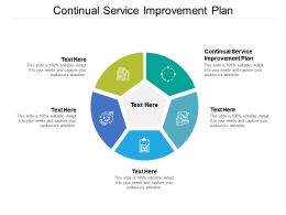 Continual Service Improvement Plan Ppt Powerpoint Presentation Outline Designs Cpb
