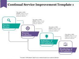 Continual Service Improvement Ppt Diagrams