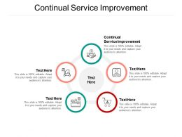 Continual Service Improvement Ppt Powerpoint Presentation Show Slide Download Cpb