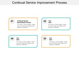 Continual Service Improvement Process Ppt Powerpoint Presentation Outline Background Cpb