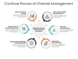 Continue Process Of Channel Management