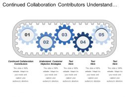 Continued Collaboration Contributors Understand Customer Objective Strategies
