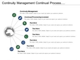 Continuity Management Continual Process Improvement Planning Life Cycle