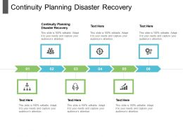 Continuity Planning Disaster Recovery Ppt Powerpoint Presentation Infographics Smartart Cpb