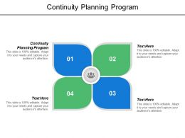 Continuity Planning Program Ppt Powerpoint Presentation Model Template Cpb