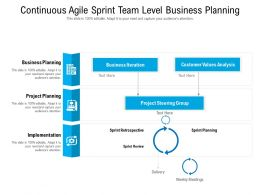 Continuous Agile Sprint Team Level Business Planning