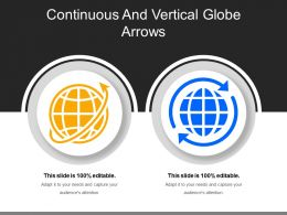 Continuous And Vertical Globe Arrows