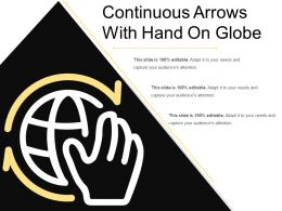 Continuous Arrows With Hand On Globe