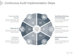Continuous Audit Implementation Steps