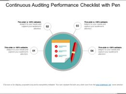Continuous Auditing Performance Checklist With Pen