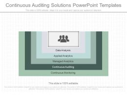 Continuous Auditing Solutions Powerpoint Templates
