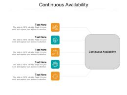 Continuous Availability Ppt Powerpoint Presentation Infographics Slide Cpb