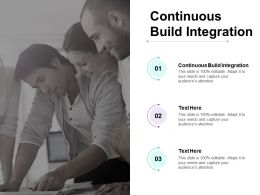Continuous Build Integration Ppt Powerpoint Presentation Professional File Formats Cpb