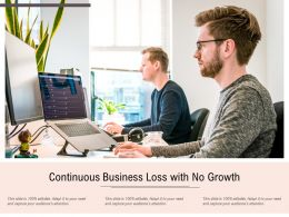 Continuous Business Loss With No Growth