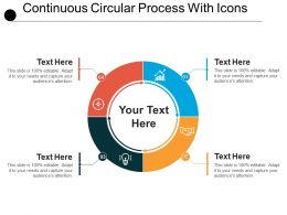 Continuous Circular Process With Icons