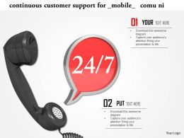 Continuous Customer Support For Mobile Communication Image Graphics For Powerpoint
