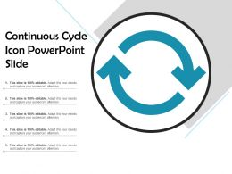 Continuous Cycle Icon Powerpoint Slide